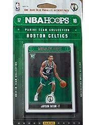 Boston Celtics 2017 2018 Hoops Basketball Factory Sealed 9 Card Team Set with Kyrie Irving, Marcus Smart and Jayson Tatum Rookie plus