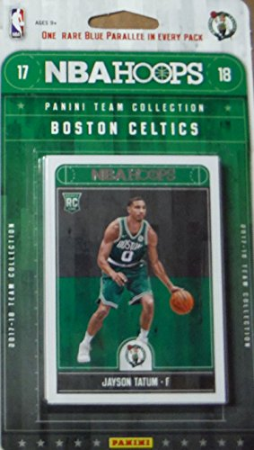 fan products of Boston Celtics 2017 2018 Hoops Basketball Factory Sealed 9 Card Team Set with Kyrie Irving, Marcus Smart and Jayson Tatum Rookie plus