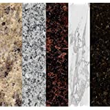 Instant Granite SAMPLES Self Adhesive Vinyl Laminate Counter Top Contact Paper Faux Peel and Stick Self Application   Includes unique coupon code for discount on your Instant Granite purchase