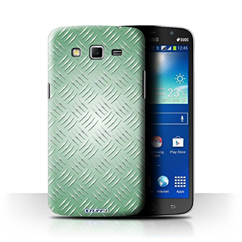 Coque de Stuff4 / Coque pour Samsung Galaxy Mega 5.8 / Vert Design / Motif en Métal en Relief Collection