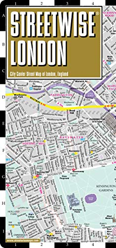 Streetwise London Map - Laminated City Center Street Map of London, England (Michelin Streetwise - Underground London Map Of