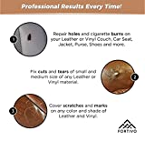 Leather and Vinyl Repair Kit - Furniture, Couch, Car Seats, Sofa, Jacket, Purse, Belt, Automotive, Shoes | Genuine, Italian, Bonded, Bycast, PU, Pleather |No Heat Required | Repair & Restore