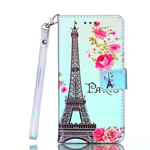 (Maoerdo Galaxy J7 2018 Case,Stand Feature PU Leather Folio Wallet Case Cover for Samsung Galaxy J7 Refine/J7 2018/J7 Star/J7 Top/J7 Aura/J7 Aero/Crown/Eon Case w/ J7 V 2nd Gen - Paris Tower )