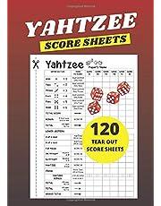 Yahtzee Score Sheets: 120 Yahtzee Score Sheets Small (Tear Out): 5x7 inches (Pocket Size)