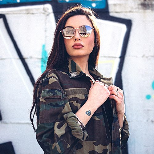 TWIG Bronce Gafas mujer de degradadas espejo Negro sol FRIDA T1wnx0EOw