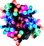 Improvhome 8 Metre Long Multi Colored Decorative Designer Ball Shaped LED Lights Kancha Ladi