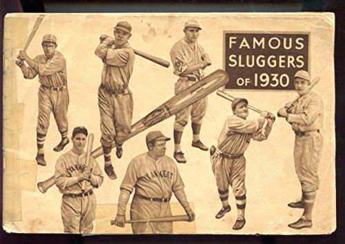 1930 Famous Sluggers Baseball YearBook Magazine Louisville Bat Babe Ruth