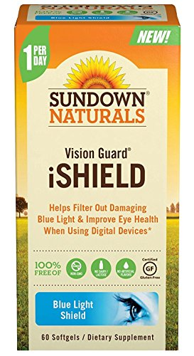 Sundown Naturals Vision Guard iShield Softgels, 60 Count (Pack of 4) by Sundown Naturals