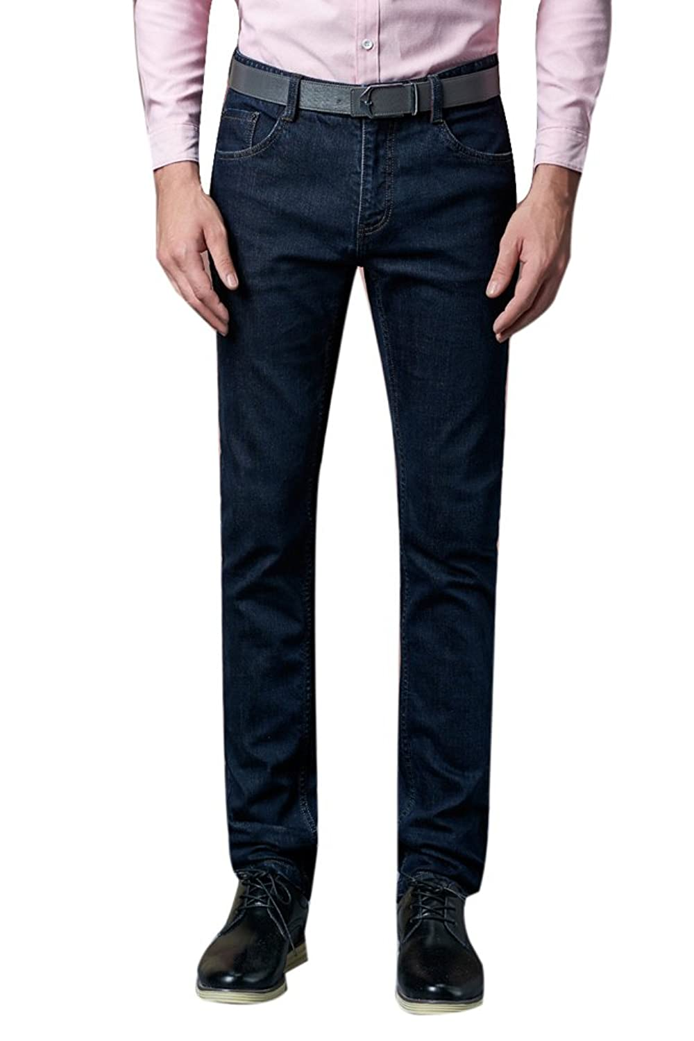 Chickle Men's Flat Front Pant Pocket Straight Fit Jeans