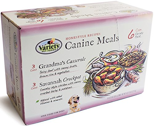 Homestyle Recipes, Variety Pack, 12/12.75-Ounce Cans, 6-Grandma's Casserole and 6-Savannah Crockpot, Natural Dog Food, (Pack of - Pet Variety Foods