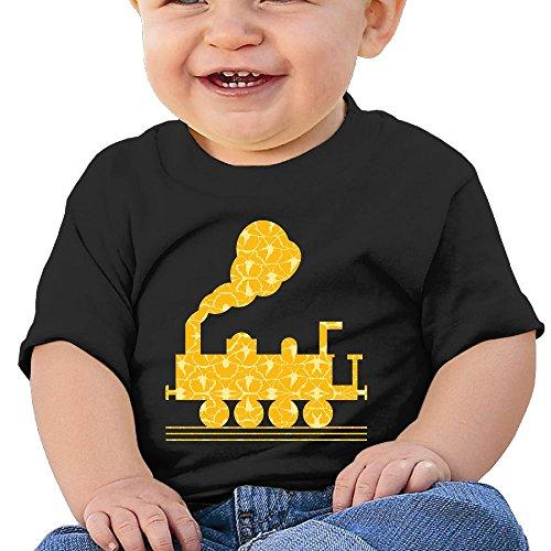 Baby's Train Cartoon Tees Little Unisex Black Size 24 Months (6-24 Months)