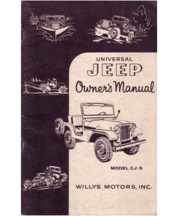 1954 Jeep Cj-5 Owners Manual User Guide Reference Operator Book Fuses Fluids - Jeep Cj Owners Manual