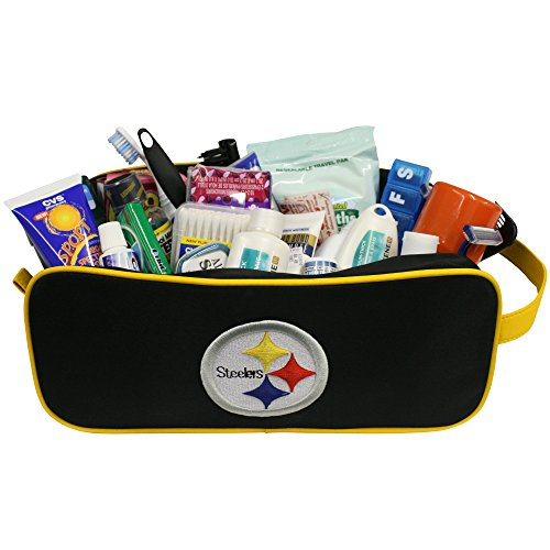 Steelers Pittsburgh Case (Charm14 NFL Pittsburgh Steelers Travel Case-Toiletry Bag-Embroidered Logo)