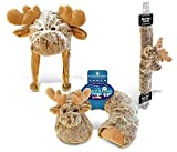 Puzzled Moose Collection - Super Soft Plush Neck Pillow, Hat and Safety Belt, Set of 3