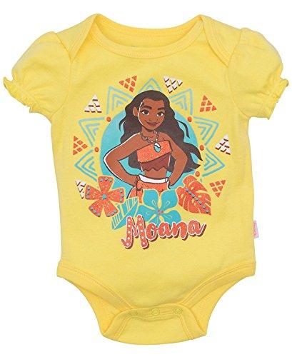 Moana Disney Princess of Motusi and Aloa Maui Newborn Infant Baby Boys and Girls Fun Times Hawaiian Island Bodysuits (Yellow Aztec, 0-3 -