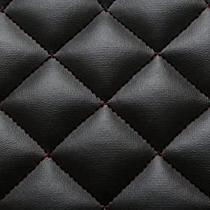 black red stitch diamond quilted faux leather car interior upholstery fabric. Black Bedroom Furniture Sets. Home Design Ideas