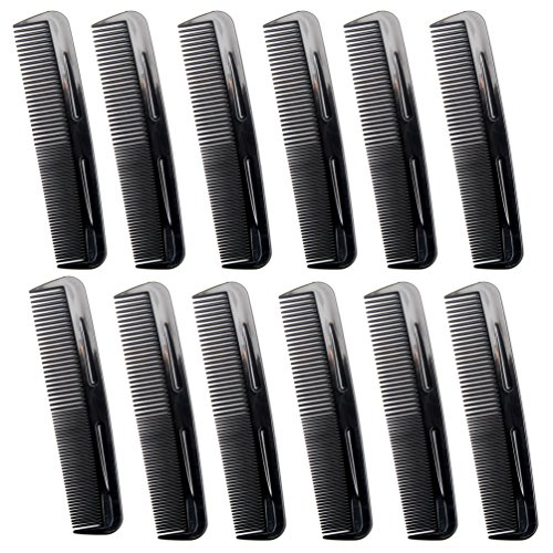 Favorict (12 Pack) 5″ Pocket Hair Comb Beard & Mustache Combs for Men's Hair Beard Mustache and Sideburns