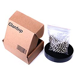 Glantop® Magnetic Sculpture Desk Toy for Intelligence Development and Stress Relief (Set of 160 Balls, 1 Magnet Base)