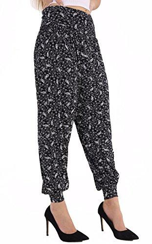 DigitalSpot - Pantalón - para mujer Small Paisley Black