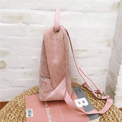 TEKUDA Backpacks Menghuo 2pcs//Set Preppy Style Corduroy Backpack Women Backpack for Teenager Girls New Student Book Bag Striped Backpacks Mochila 1 PCs