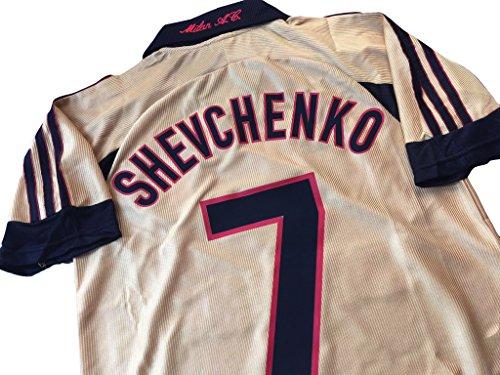 Ac Milan Kit 2009 (Rare Retro 1999-2000 AC Milan 4th Jersey Andriy Shevchenko #7 Shirt)