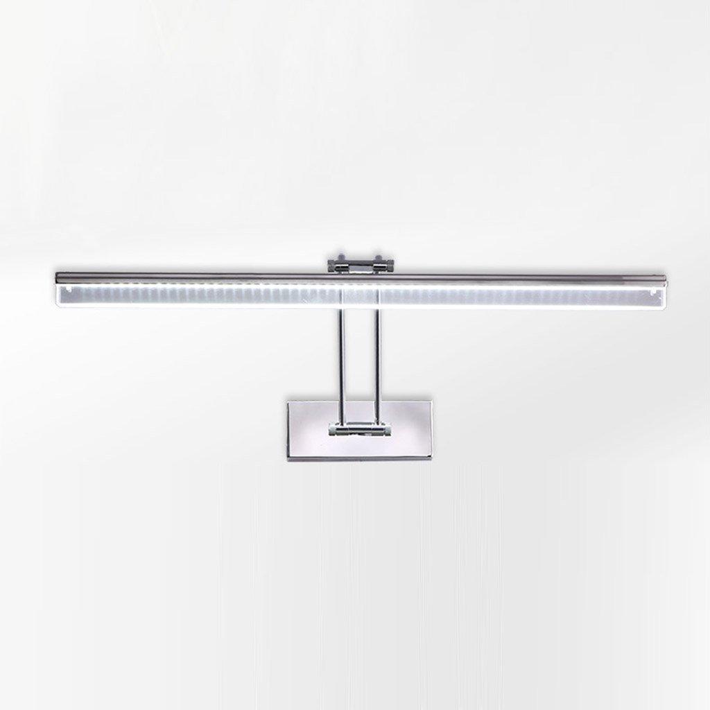 RFJJ LED-Badezimmer-Kosmetikspiegel-Spiegel, der justierbaren Winkel-Wasserdichten Anti-Fog Edelstahl-Silber Beleuchtet Spiegel Scheinwerfer