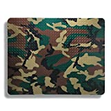 camo cooker - Plastic, Anti-Stain Grill and Garage Protective Mat - Decorative Embossed Diamond Plate Pattern - Camo, (3 Feet x 4 Feet)
