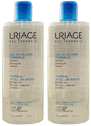 Uriage Thermal Micellar Water Moisturizes Removes Make-up Clenases 500 Ml x 2 Bottles