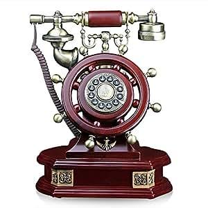 Teléfonos teléfono fijo oficina hogar madera antigua Continental de nostalgia retro