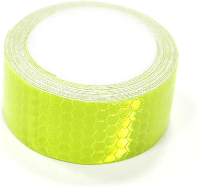 Maiqiken 1 Rolle Reflektor Streifen Fluoreszenz Grüne Selbstklebende Für Auto Lkw Anhänger Sicherheit Warnung Reflektorband Tape Aufkleber 5cm X 3m Auto
