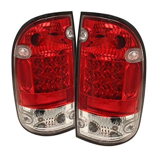 Red Housing Spyder Clear - Spyder Auto Toyota Tacoma Red Clear LED Tail Light