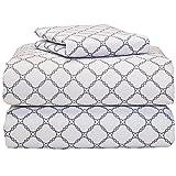 Calypso Gray 3 Piece Twin XL Sheet Set for College Dorm Bedding