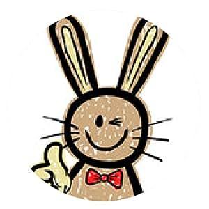 alfombrilla de ratón Conejo de Pascua Pulgar para arriba / Doodle / vector / Aislado - ronda - 20cm