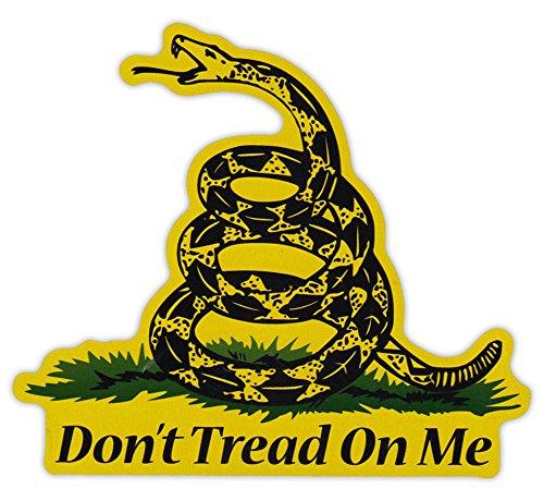 Magnetic Bumper Sticker - Don't Tread On Me - Gadsden Flag, Coiled Snake, 2nd Amendment, Gun Rights - 5