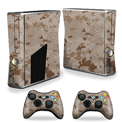 MightySkins Skin For X-Box 360 Xbox 360 S console - Desert Camo | Protective, Durable, and Unique Vinyl Decal wrap cover | Easy To Apply, Remove, and Change Styles | Made in the USA ()