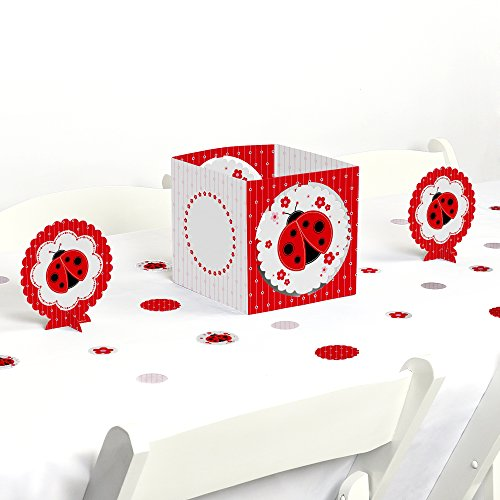 Big Dot of Happiness Modern Ladybug - Baby Shower or Birthday Party Centerpiece & Table Decoration Kit