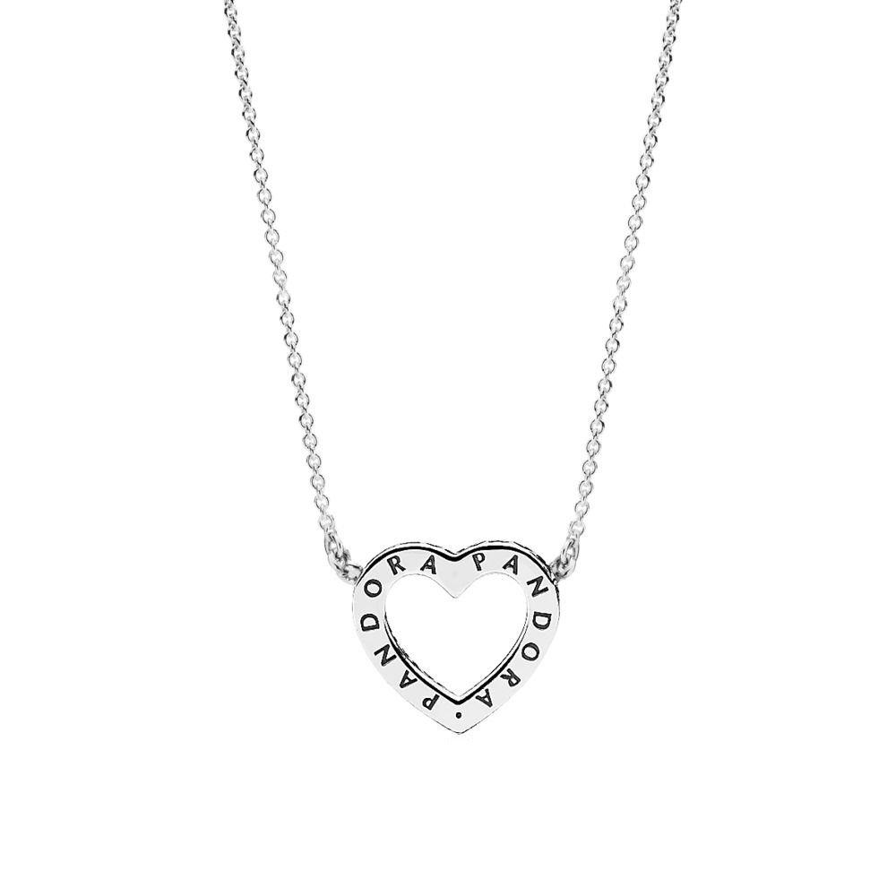Pandora Women Silver Pendant Necklace - 590534CZ-45 2DtRw