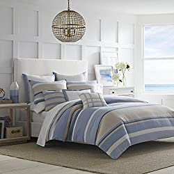 Nautica Abbott Comforter Set, King, Medium Blue