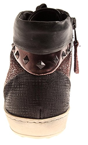 Isabelle 8263 8264 Nero Donna Di Top Marrone Pelle Sneaker Scarpe Intercambiabile Plantare High rZWzUOr