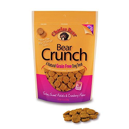 Charlee Bear Grain-Free Bear Crunch Turkey, Sweet Potato & Cranberry Flavor 8 (Charlee Bear Training Treats)