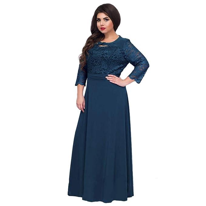 Amazon.com: Libobo Plus Size Women\'s Dresses Autumn Casual ...