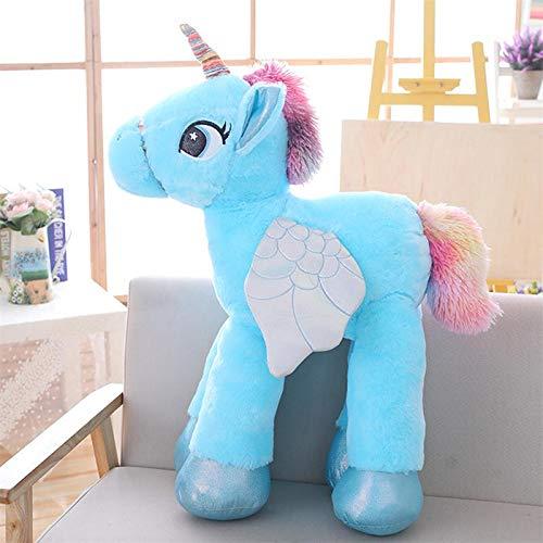 GOOGEE Unicorn Stuffed Animal - Unicorn Stuffed Animals Soft Doll Cartoon Unicorn Animal Horse Gift for Children - 36 Inch Blue - Pig XL Lavender Bog Galaxy Cow Cat Black]()