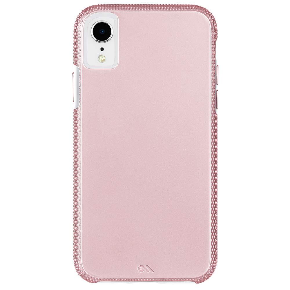 Case-Mate - iPhone XR Case - TOUGH GRIP - iPhone 6 1 - Rose Gold/Clear