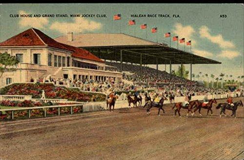Club House and Grand Stand, Miami Jockey Club Florida Original Vintage Postcard