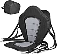 Kayak Seat Padded Deluxe Canoe Seat with Storage Bag, Adjustable Cushions for Canoe Fishing Boat Paddle Board