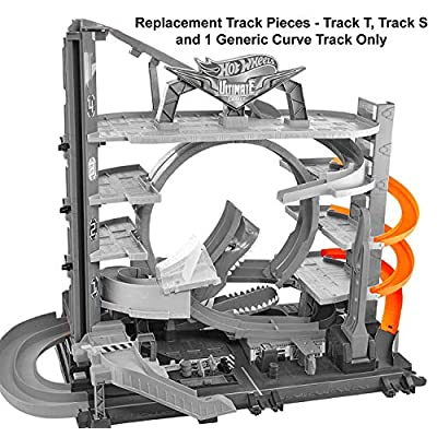 Replacement Parts for Ultimate Garage - Hot Wheels Ultimate Garage Vehicle Playset FTB69 ~ Replacement Track Pieces ~ Includes 3 Track Parts ~ Track T, Track S and 1 Generic Curve Track: Toys & Games