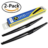 14D Rear Windshield Wiper Blade AUCD for Ford Edge Transit Connect/Volvo XC90 XC60 C30/Nissan Quest Versa/Mazda 3/Saab 9-5/Lincoln MKX/Jaguar X-Type -14 Inch (2-Pack)