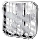 Holmes Box Fan, Metal, 20-Inch, White