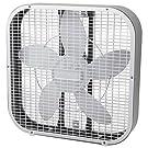 Holmes HBF2010A-WM 21-Inch by 4.5-Inch Box Fan, 3 Speed-Settings, Metal Frame, 20-Inch Blade, White