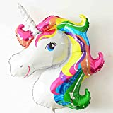 FindFun 33 Unicorn Foil Balloon Animal Horse Decor for Birthday Baby Shower Party Wdding Child Toys